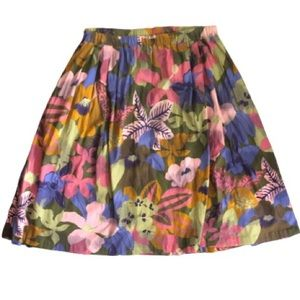 Retro colourful midi skirt